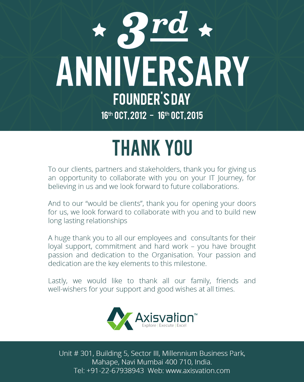 Axisvation as the Startup of the year 2014